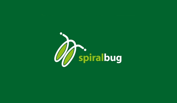 spiral bug logo design