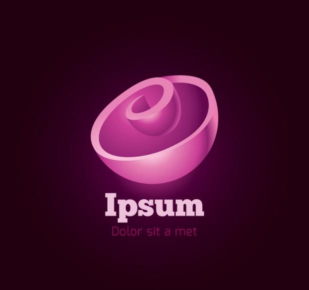 pink spiral logo design