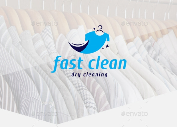 fast cleaning logo design