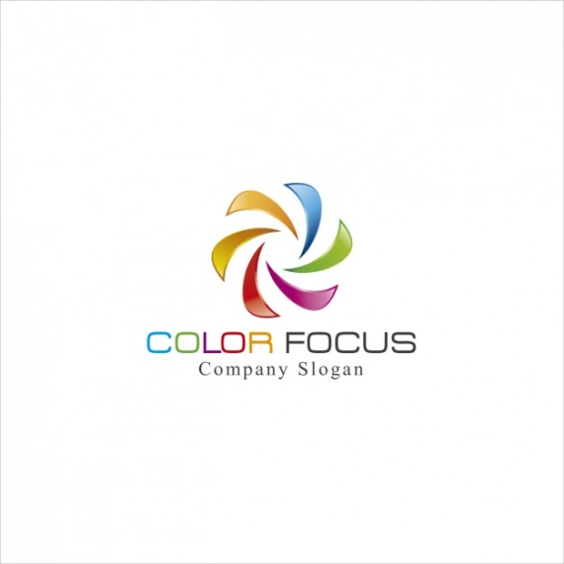 free colorful spiral logo design