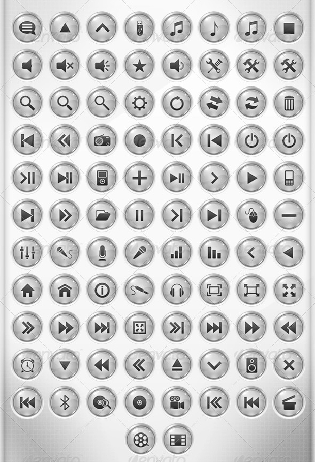 light multimedia icons
