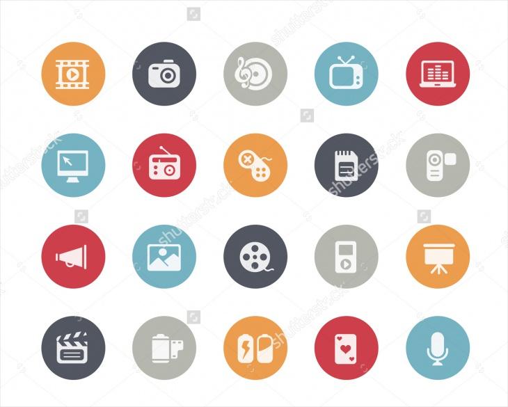 classic multimedia icons