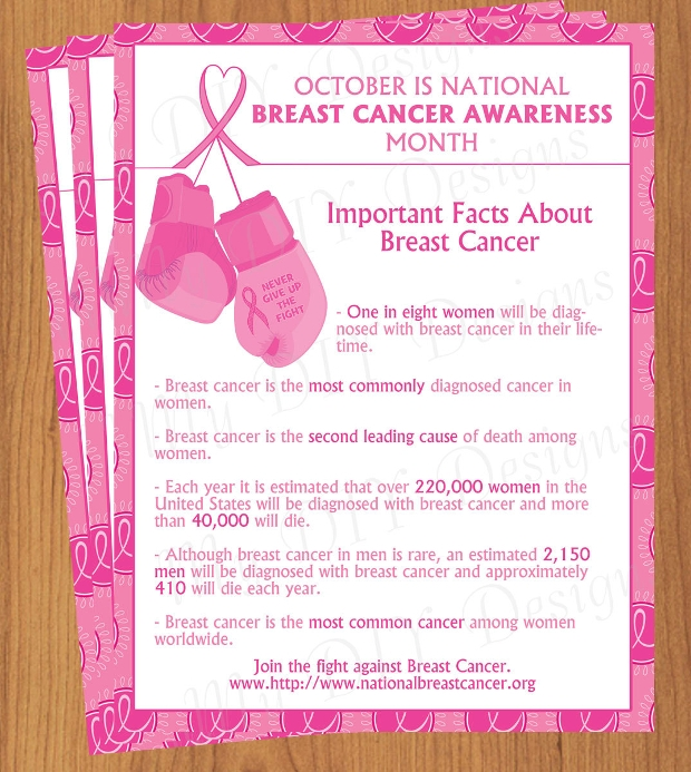 editable breast cancer awareness month flyer template