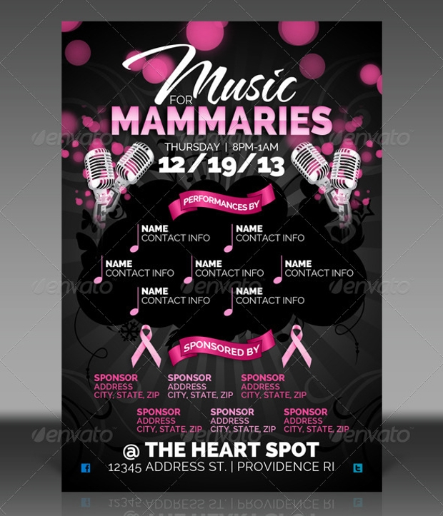 Breast Cancer Awareness Flyer Templates  Printable Psd Ai