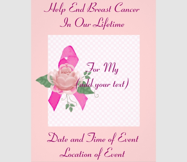 breast cancer support flyer