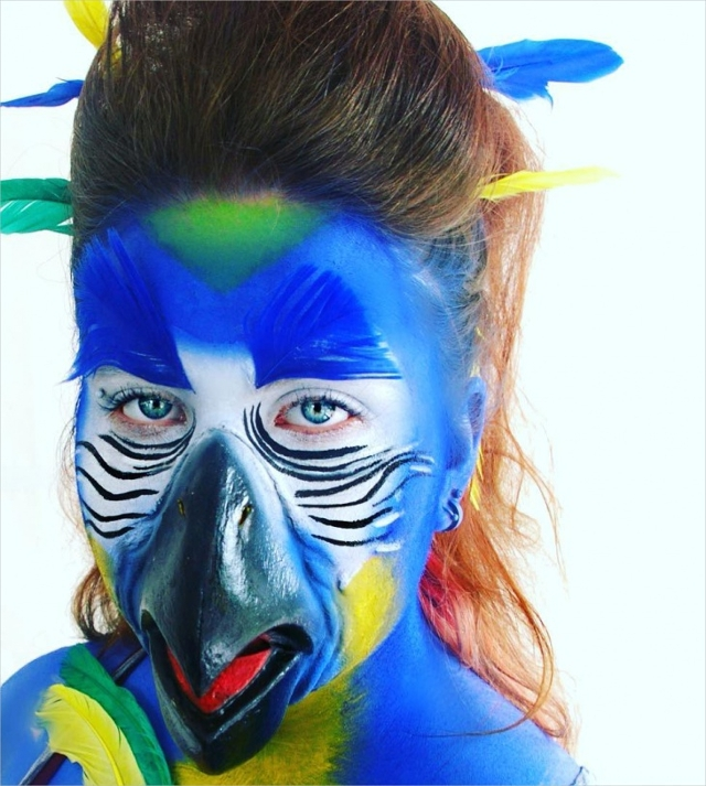 Fantasy Parrot Makeup