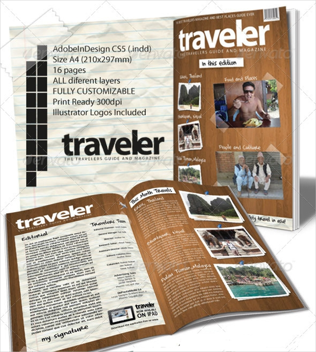 30 Creative Magazine Print Layout Templates For Free: 16+ Travel Magazines Free PSD, EPS, AI, InDesign Download
