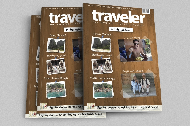 High Quality Traveler Magazine Indesign Template