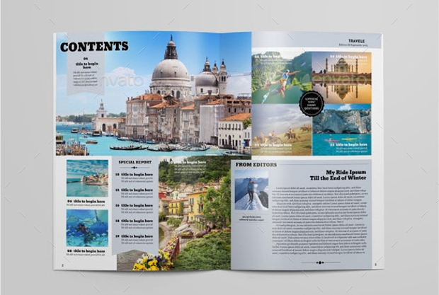 16 Travel Magazines Free Psd Eps Ai Indesign Download
