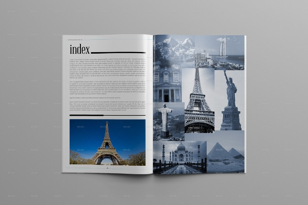 Awesome World Travel Magazine Template