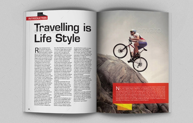 Trip Travel Magazine Template