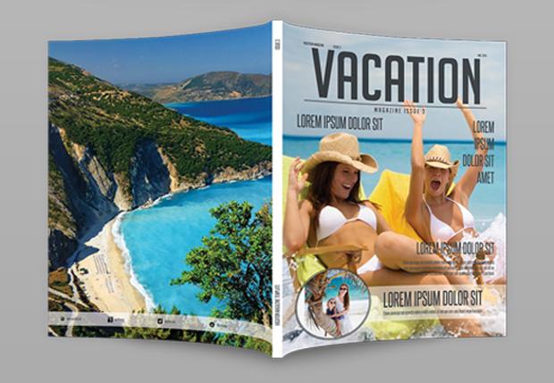 Vacation Magazine Template