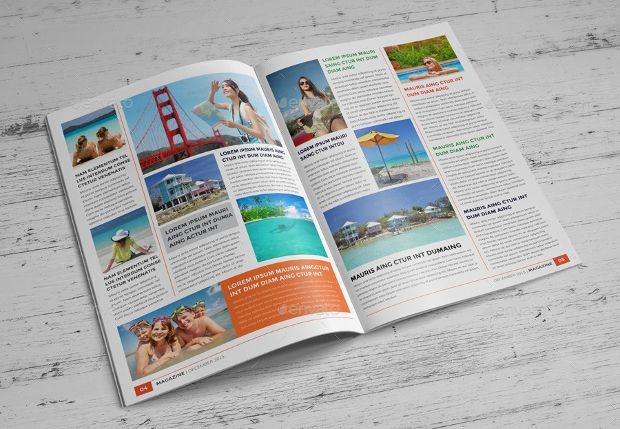 Travel Agency Magazine Template
