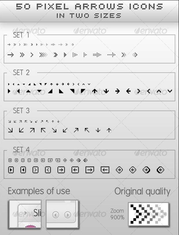 Pixel Arrow Icon