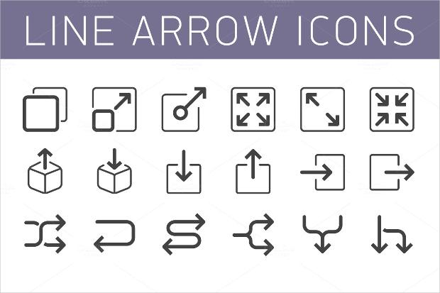 Line Arrow Icon