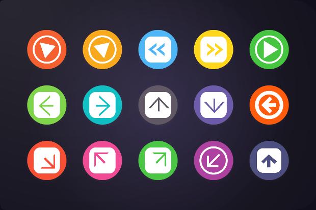 Flat Arrows Icon
