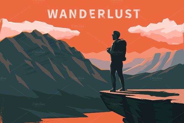 Wanderlust Travel Vector Illustration