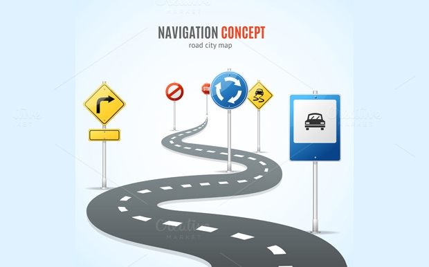 Travel Navigation Concept Vector