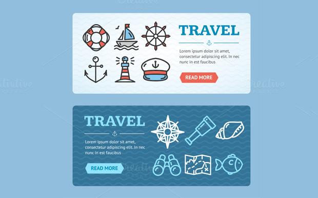 Travel Tourism Vector Banner