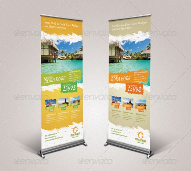 Travel Roll Up Banners