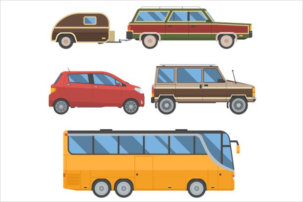 Auto Travel Car Vector