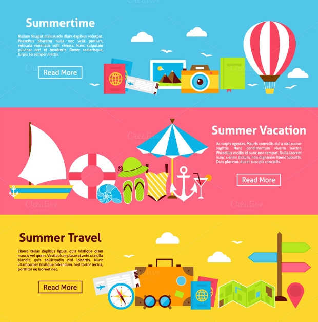 Horizontal Travel Web Banners