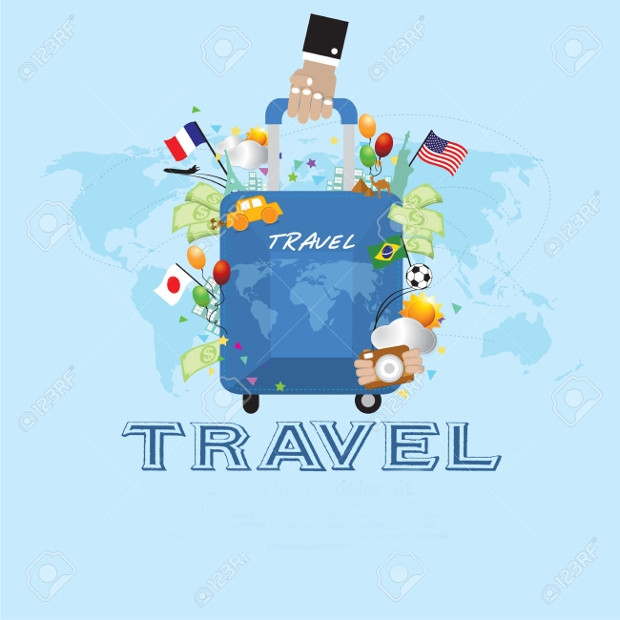 simple travel vector