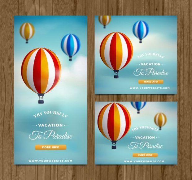 Travel Banners With Balloons