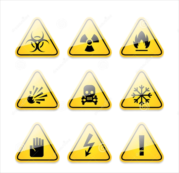 Warning and Danger Icons