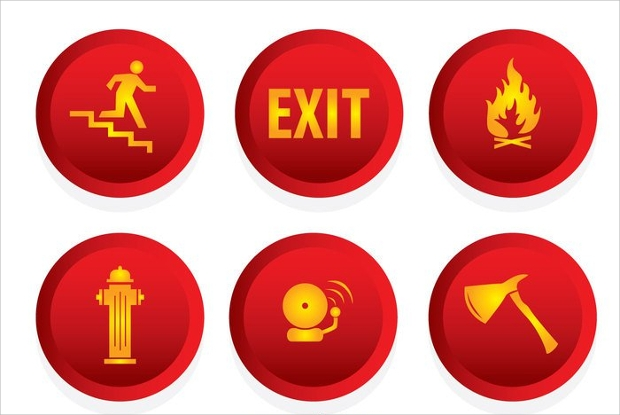 Fire Emergency Icons