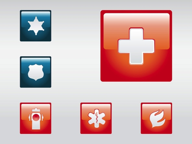 Emergency Square Icons