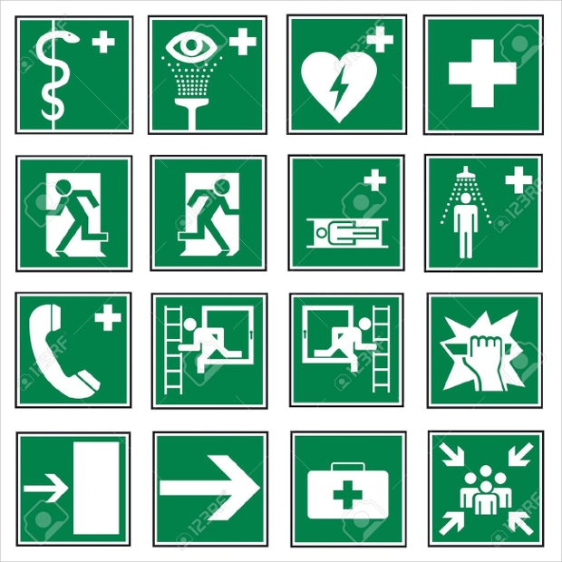 Exit Emergency Icons
