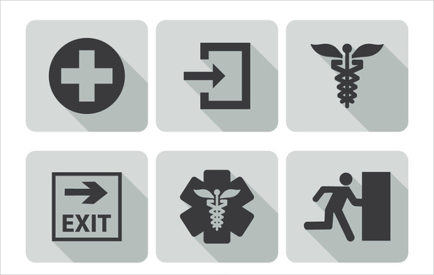 High Resolution Emergency Icons