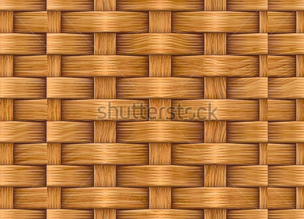Wooden Weave Cane Texture