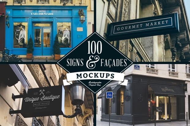 Featuring an immense assortment of shop frontages and hanging wall signs, this mockup can be a powerful way of showcasing your work in an outstanding manner. This mockup is ideal for your upcoming giant brand identity or lettering project showcasing.