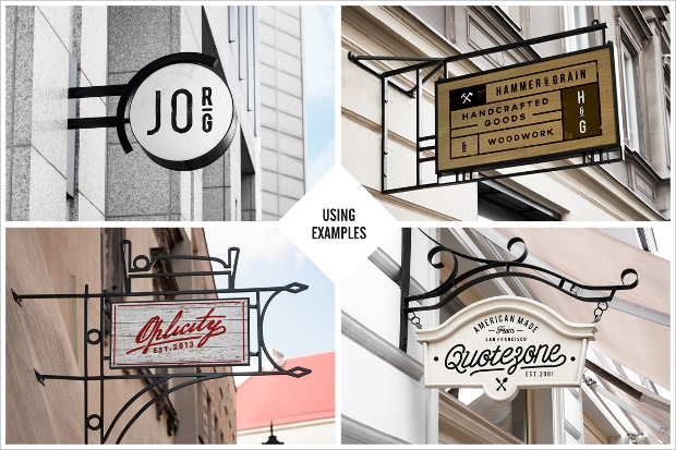restaurant and coffee shop sign mockup