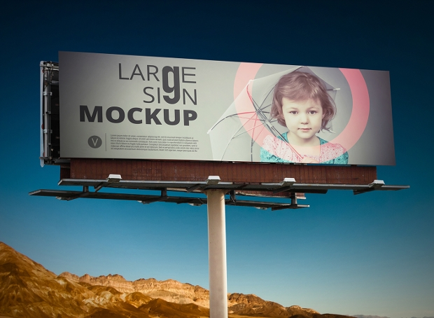 large sign mockup