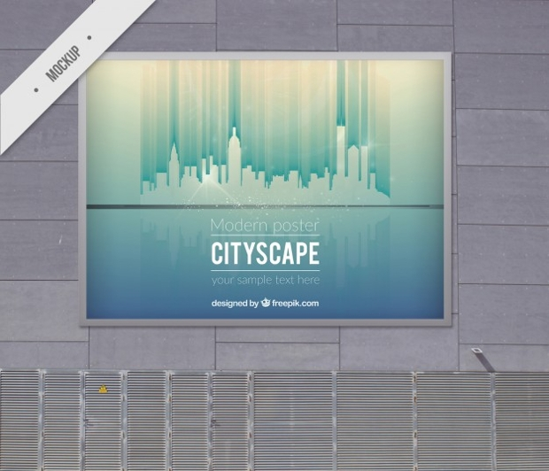 modern outdoor billboard mockup