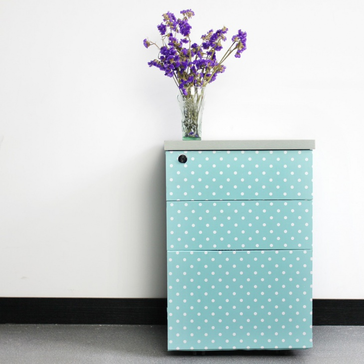 quirky print on drawers