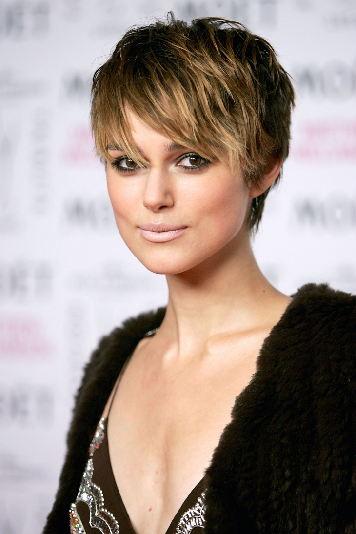 Keira Knightley Pixie Cut with Bangs