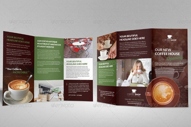 coffee shop restaurant brochure