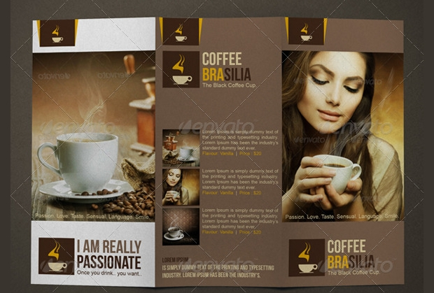 coffee tri fold brochure
