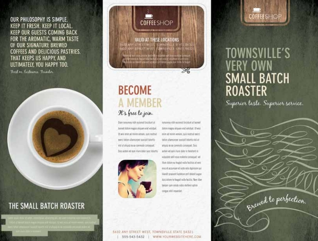 Coffee Shop Brochure Designs And Templates  Design Trends