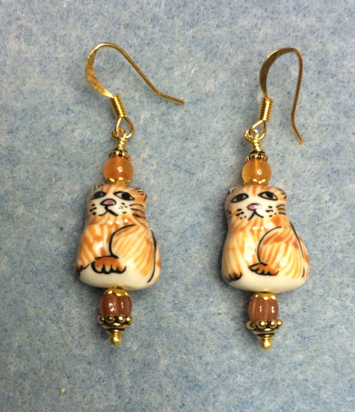 ceramic cat earrings idea
