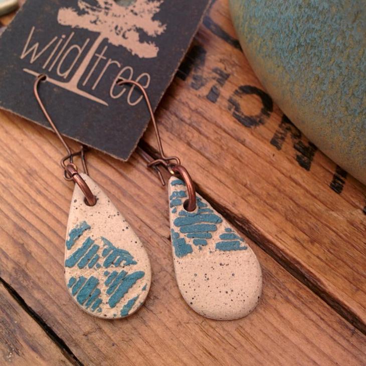 vintage ceramic earrings