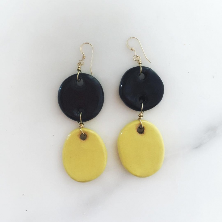 cute ceramic earrings idea
