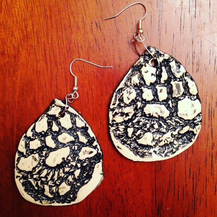 ceramic dangle earrings idea