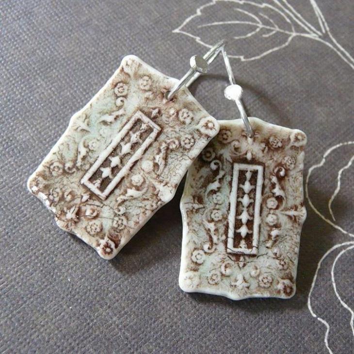unique ceramic earrings idea