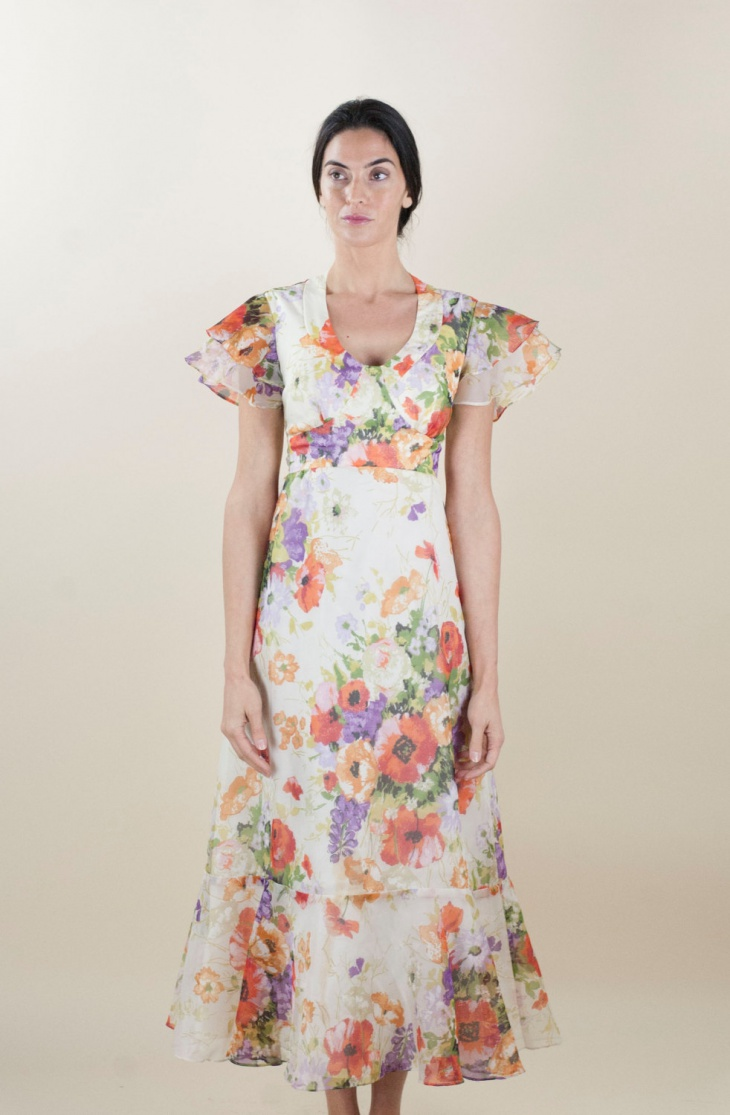 Chiffon Poppy Dress Design