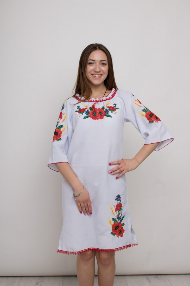Traditional Poppy Print Dress